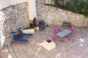 View of outdoor BBQ area of patio